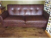 DFS real leather sofa in excellent condition