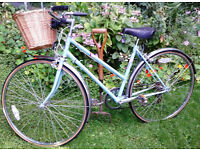 Stlylish classic ladies bicycle with wicker basket