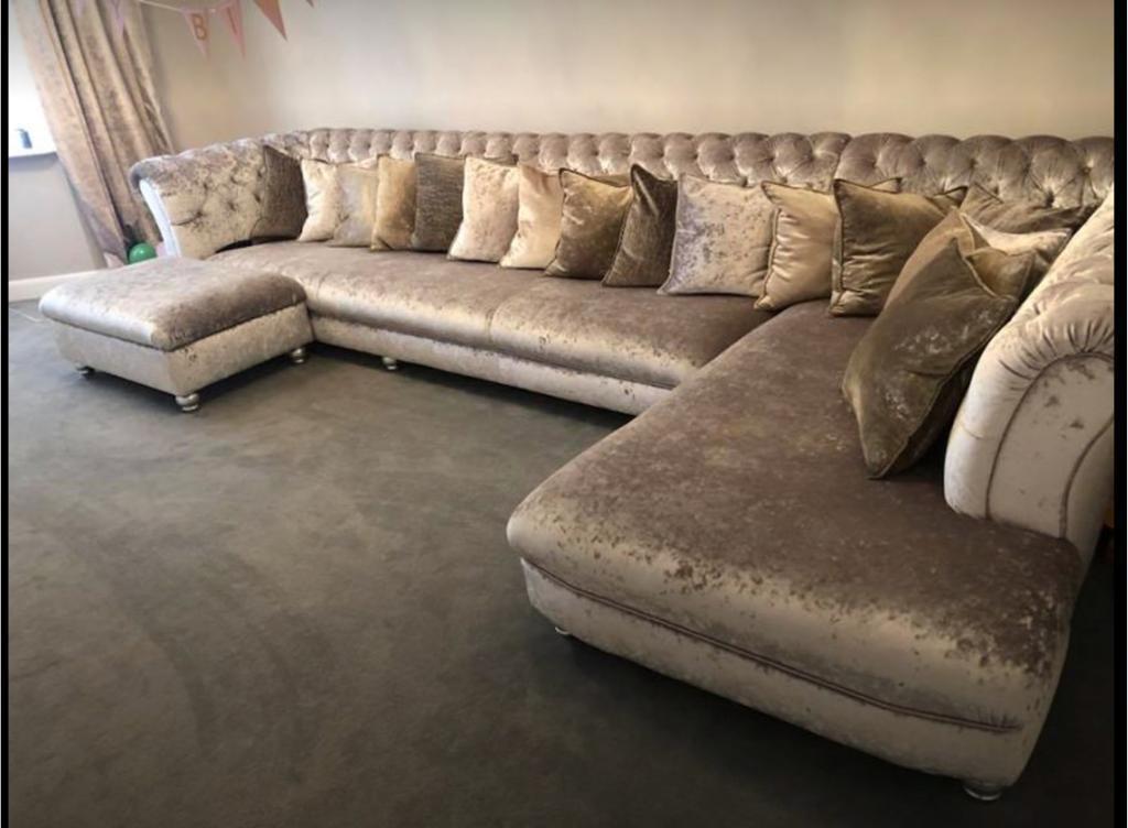 Corner Sofa Crushed Velvet In Beverley East Yorkshire Gumtree