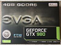 EVGA GeForce GTX 980 FTW, ACX 2.0, 4 GB GDDR5, graphics card with backplate