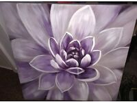lovely purple flower canvas