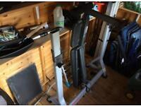 Gym set with bench and weights