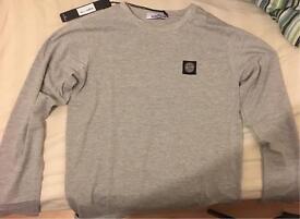 New MENS Stone Island - Long sleeve T shirt jumper- Grey Size L
