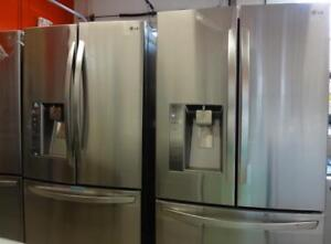 STAINLESS STEEL FRIDGES FRENCH DOORS with Ice/Water All Major Brands 15% off until January 20