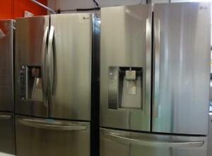 STAINLESS STEEL FRIDGES FRENCH DOORS with Ice/Water All Major Brands $200 off on all appliances