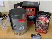 Weber BBQ Rapidfire Chimney Starter Set
