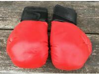 Red medium Sparring boxing gloves