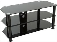 black glass TV stand/media unit available! Great condition, low price (from ��10)
