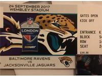 2 x Tickets NFL Wembley Baltimore Ravens @ Jacksonville Jaguars