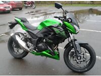 Kawasaki Z300, 2015, A2 compliant, very low mileage, £3250ono