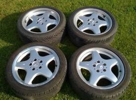 Genuine OEM Mercedes SLK 17x7.5J / 8.5J Staggered 5x112 Alloy Wheels VW T4