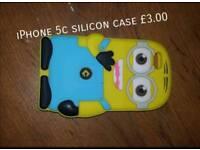 Iphone 5c minion silicon case