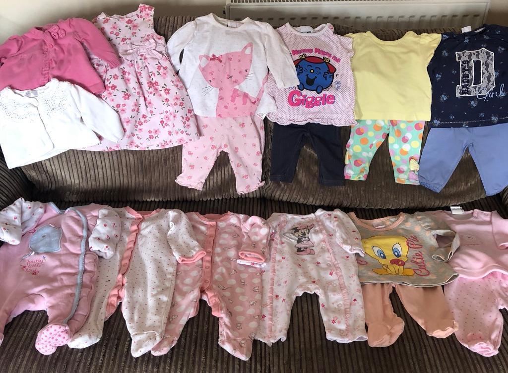 Girls Clothing Bundle Aged 0-3 Months Baby & Toddler Clothing Girls' Clothing (newborn-5t)