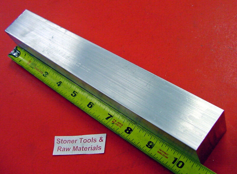 "1-1/2"" X 1-1/2"" ALUMINUM 6061 SQUARE BAR 10.7"" long Solid T6511 Falt Mill Stock"