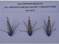 5 Ounce Fishing Breakaways Grippers (Sinkers) price is for 5