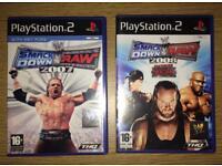 WWE Smackdown 2007 & 2008 PS2 Games Bundle