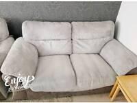 Grey cord fabric sofa