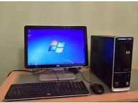 "SALE --AS NEW ***£895 HP Pavilion Home Business Slimline PC Computer &HP Pavilion 20"" LCD"