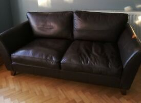 Leather 3 seater sofa