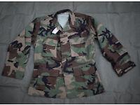 New - US Army Woodland BDU Lightweight Combat Jacket #B