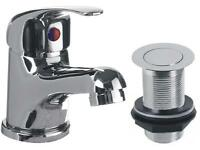 Taps - Mixer Lever Taps with Clicker Waste