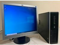 HP Pro Small Form Computer Desktop PC & HP 19 LCD Monitor