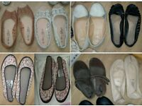 LADIES EIGHT PAIRS OF FLAT SHOES