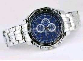 Brand new mens stainless steel quartz watch