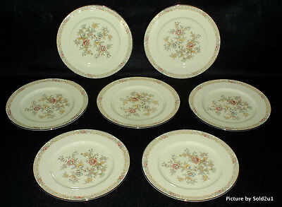 7 Noritake Imperial Garden Salad Plates   9720 Mint