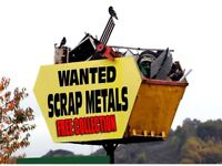 Wanted scrap metal good prices paid