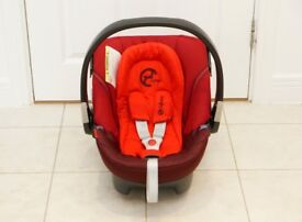 Cybex Aton Baby Car Seat in Poppy Red / Red