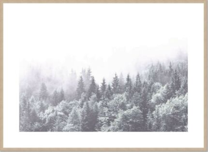 Custom framed print - Misty forest