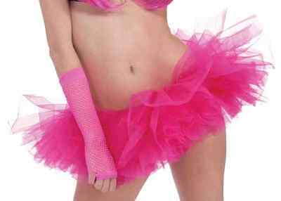 Neon Tutu 80's Club Candy Fancy Dress Halloween Adult Costume Accessory 4 COLORS - 80's Halloween Candy
