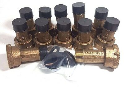 Lot12 34 Water Meter Couplings Lead Free Brass 34 Swivel X 34 Male Npt