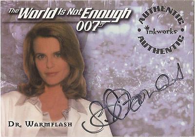"James Bond World Not Enough A4 Serena Scott-Thomas ""Dr Warmflash"" Autograph Card"
