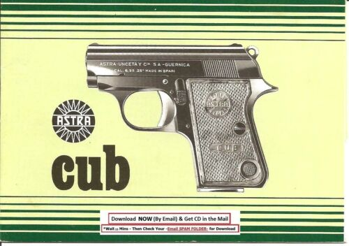 Astra Cub Pistol Owners Cleaning Instruction Manual