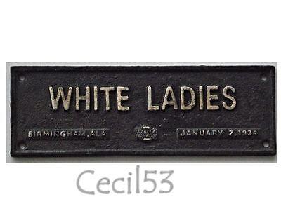 BLACK SEGREGATION SIGN WHITE LADIES BIRMINGHAM AL CAST IRON - SHIPS FREE