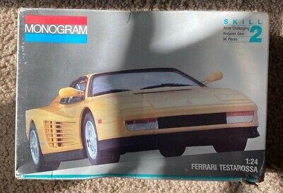 Monogram Ferrari Testarossa 1/24 Model Kit 2910 Vintage Sealed Parts Open Box