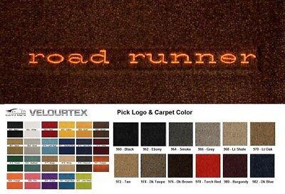 Lloyd Mats Plymouth Road Runner Custom Velourtex Front Floor Mats (1968-1975) - Custom Floor Runners