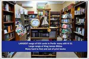 Christian Bookshop Sale - KJV Bibles from $5 Stirling Stirling Area Preview