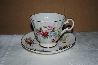 ROYAL GRAFTON CUP & SAUCER – Red & Yellow Roses with Gold Trim – FINE BONE CHINA