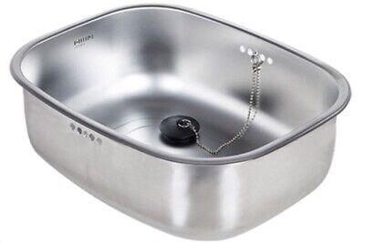 Hanssem Stainless Steel Basin Dishpan Washing Bowl Kitchen Sink Basket with Cap
