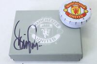 Manchester United Miniature Replica Trophy Set Signed By Denis Irwin 1999 - manchester united - ebay.co.uk