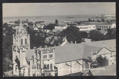 Postcard KEY WEST Florida/FL  Looking North Bird's Eye Aerial view 1930's