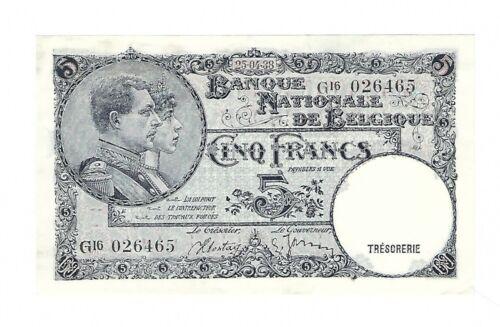 Belgium - 1938, 5 Francs