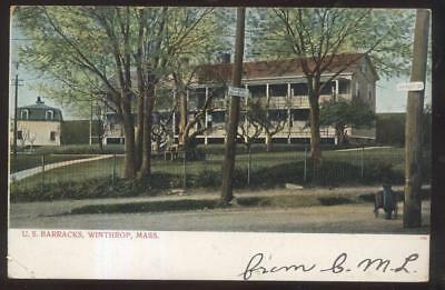 For sale Postcard WINTHROP Massachusetts/MA U.S. Military Barracks 1906