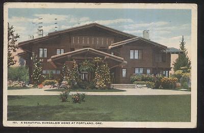 POSTCARD PORTLAND OREGON OR LOCAL BUNGALOW HOME HOUSE 1910'S