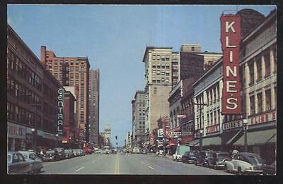 Postcard Youngstown Ohio East Federal Street Business Dist Looking West 1940S