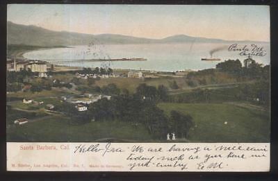 Postcard SANTA BARBARA California/CA  Bay Area Bird's Eye Aerial view 1906