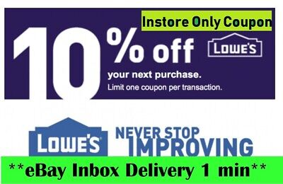 THREE 3X Lowes 10% OFF3Coupons-Instore Only-_FAST_SENT-EXP 04/30/20_NOT 20 off~~